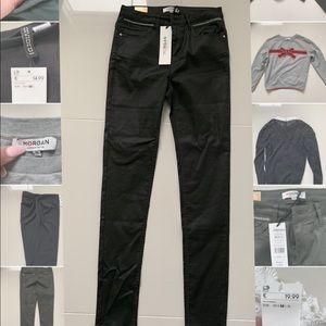 Morgan de toi dark green skinny jeans